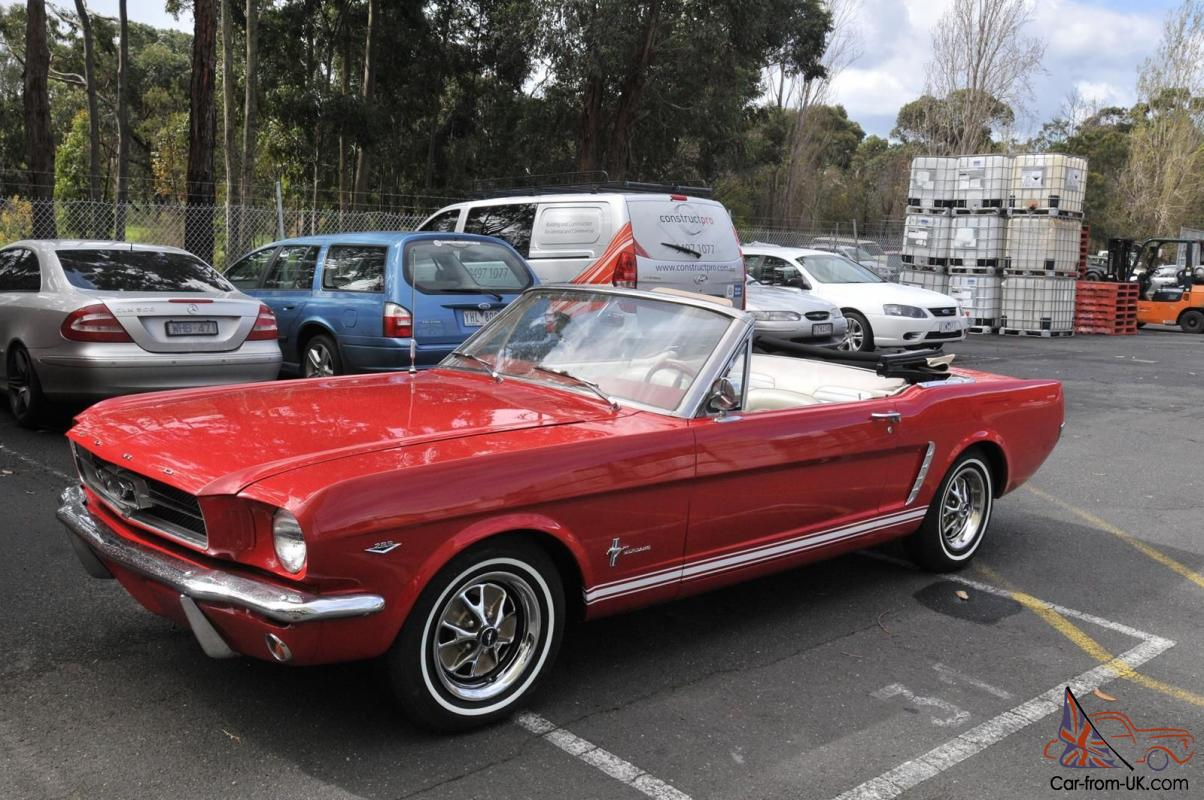 1965 ford mustang convertible 289 v8 c code car excellent condition