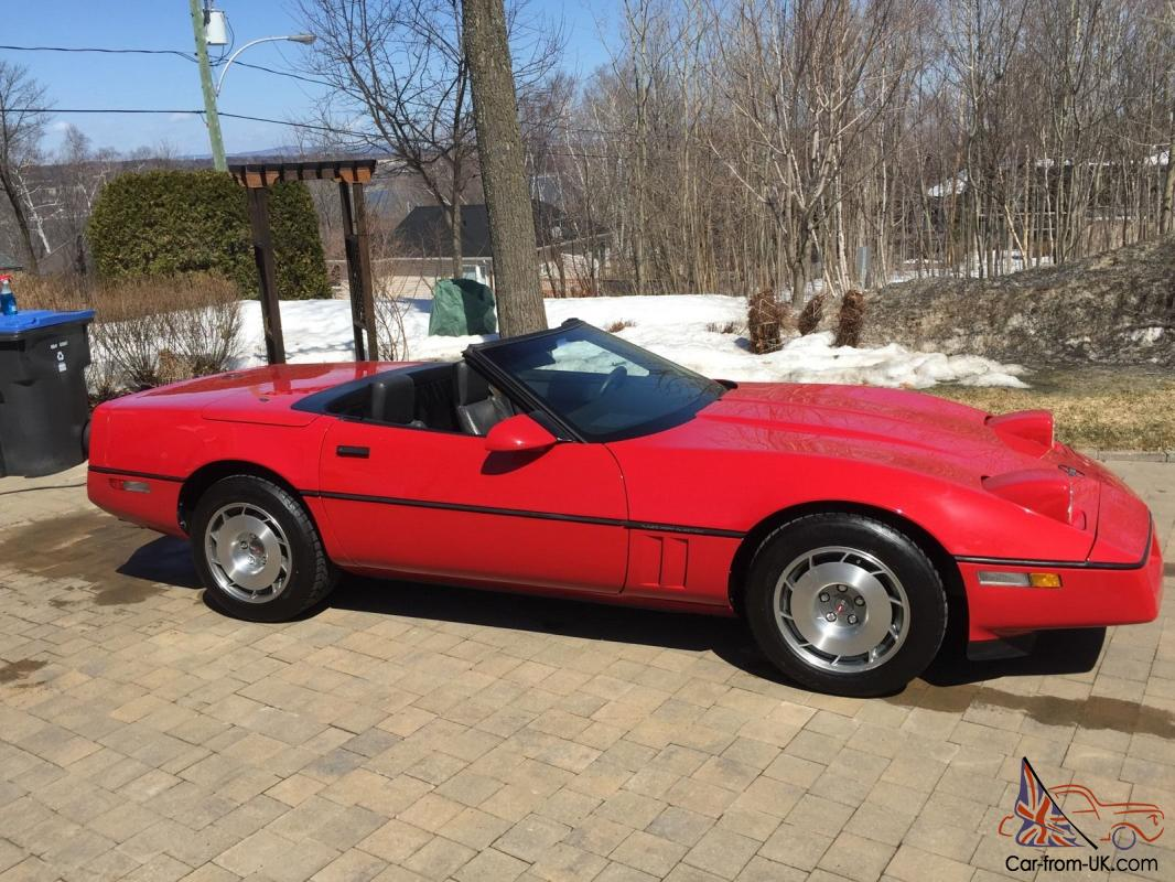 chevrolet corvette convertible c4 1987 red. Black Bedroom Furniture Sets. Home Design Ideas