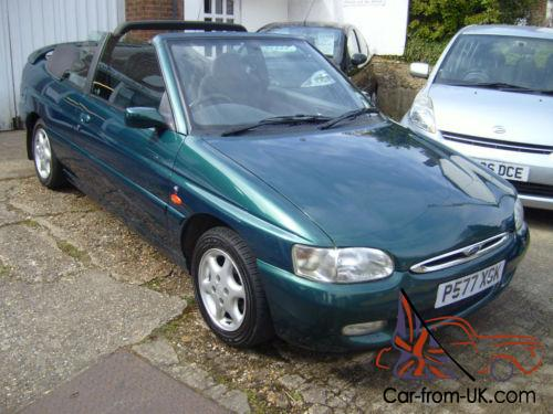 ford escort ghia cabriolet cabrio 35 000 miles from new. Black Bedroom Furniture Sets. Home Design Ideas