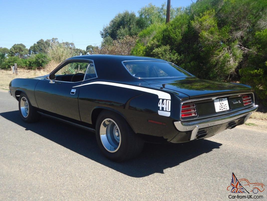 1970 Plymouth Cuda Mopar\'S Finest 440 V8 Slap Stick Black Black Hemi ...
