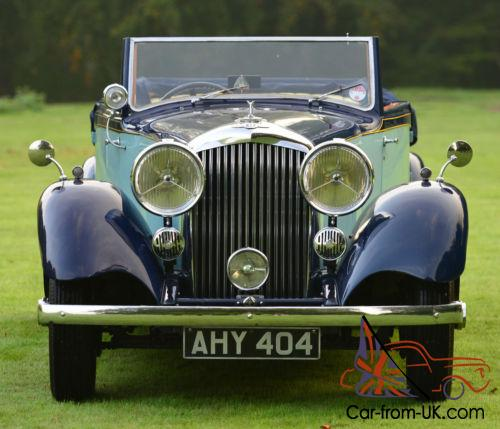 Used Bentley Convertible For Sale: 1934 Park Ward Derby Bentley 3 1/2 Litre Drop Head Coupe
