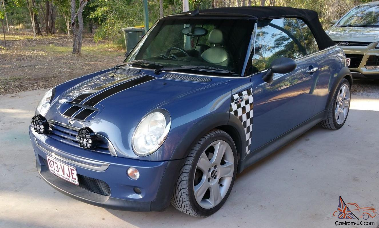 mini cooper s cabrio 2005 2d cabriolet automatic 1 6l. Black Bedroom Furniture Sets. Home Design Ideas
