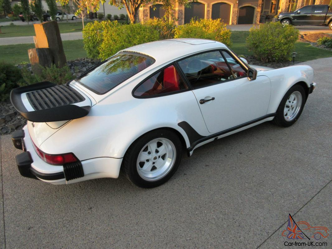 930 1986 porsche all original 911930 turbo factory ordered grand prix white with special order can can red full leather interior from moser porsche in vanachro Image collections