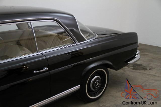 stunning black 250se coupe w111 with air conditioning 1967