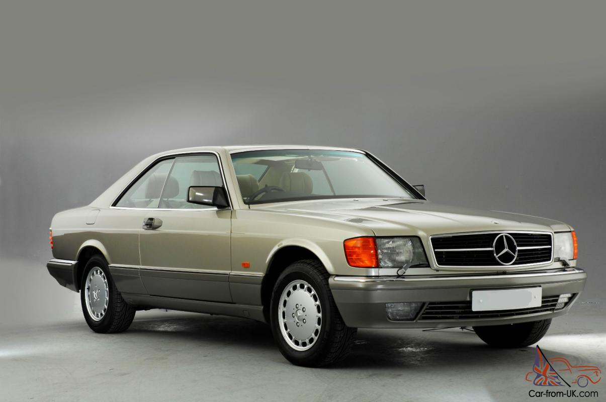 1990 mercedes 500 sec auto smoke silver. Black Bedroom Furniture Sets. Home Design Ideas