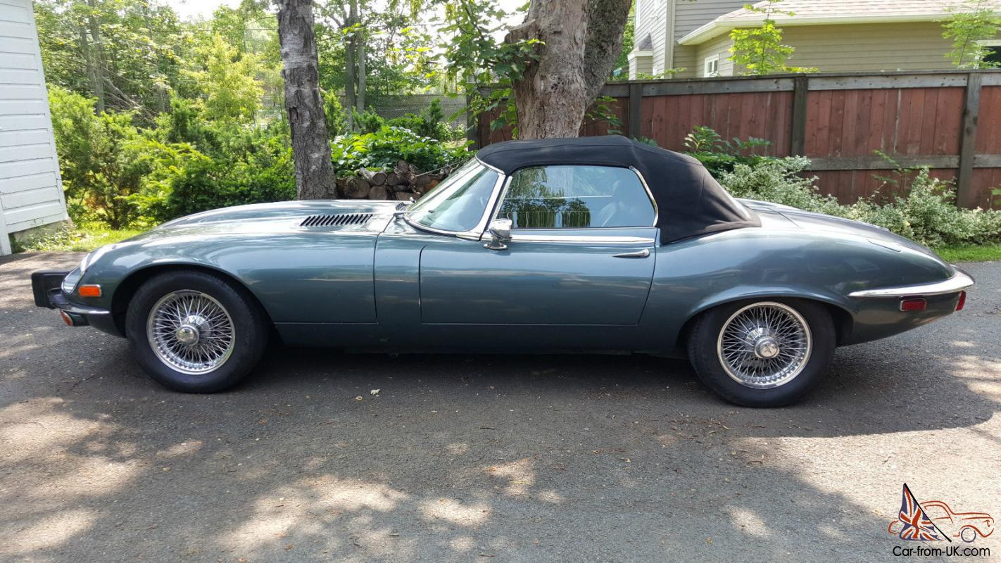 1974 jaguar e type ots xke v12 series 3 convertible roadster rust free. Black Bedroom Furniture Sets. Home Design Ideas