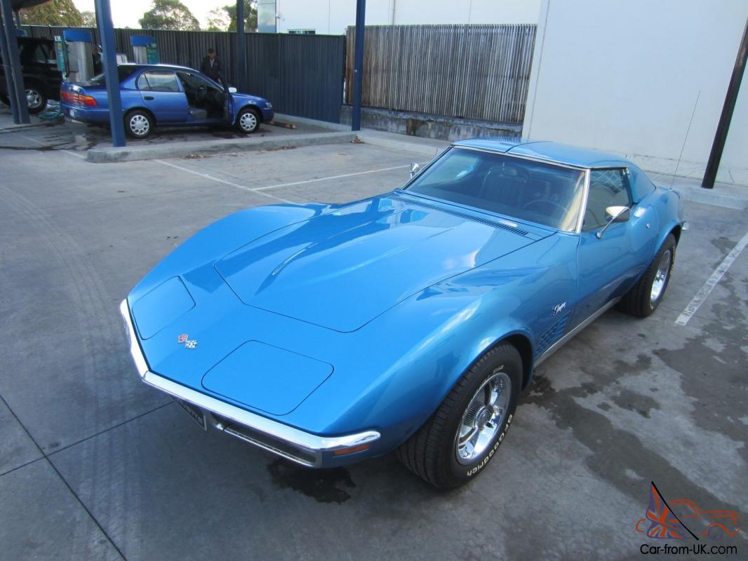 1970 chevrolet corvette stingray t top 350v8 4 speed manual immaculate condition. Black Bedroom Furniture Sets. Home Design Ideas