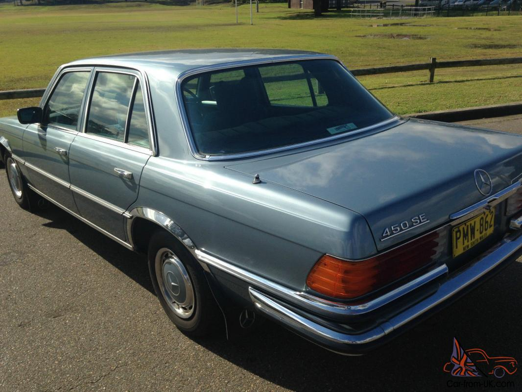 mercedes benz 450 se 1977 4d sedan automatic 4 5l electronic f inj seats in nsw. Black Bedroom Furniture Sets. Home Design Ideas