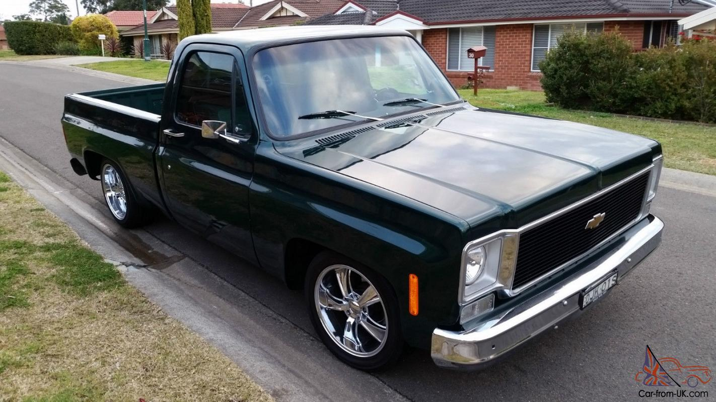 chevrolet 1975 c10 shrtbed pickup truck worked 383 stroker fully restored beauty in nsw. Black Bedroom Furniture Sets. Home Design Ideas