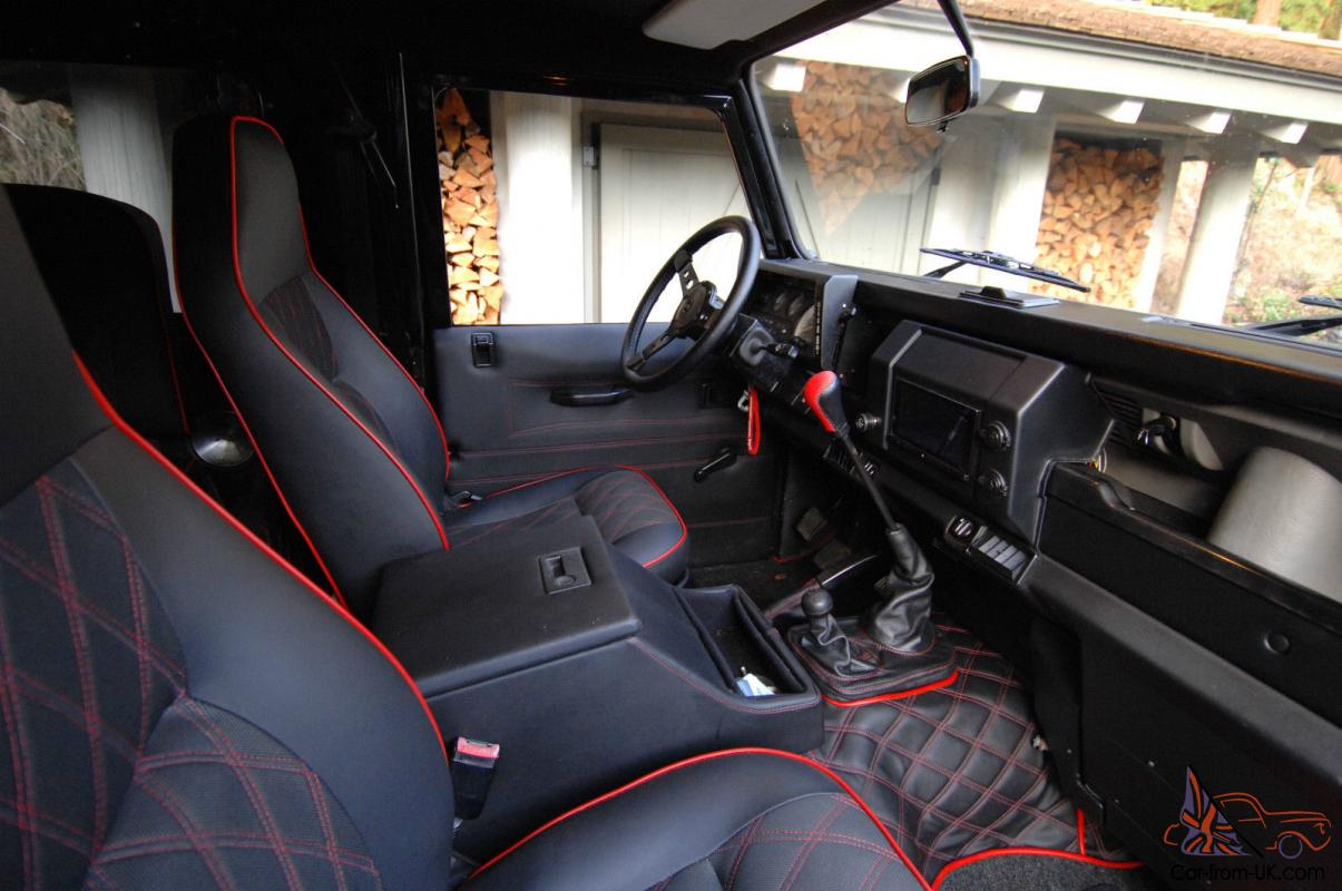 Land rover defender modified interior for All blacks interiors
