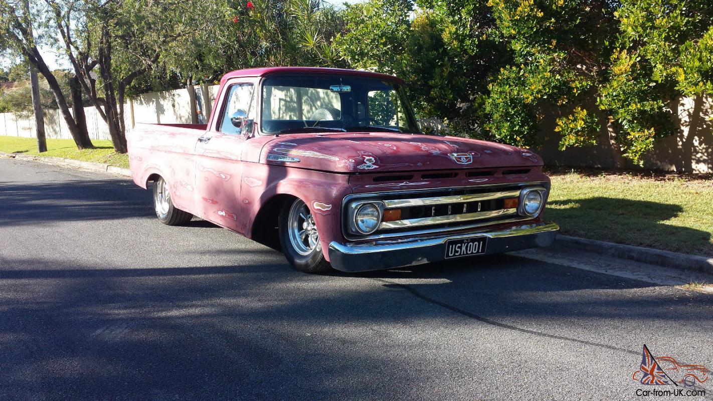 1961 ford f100 unibody ratrod patina in qld photo