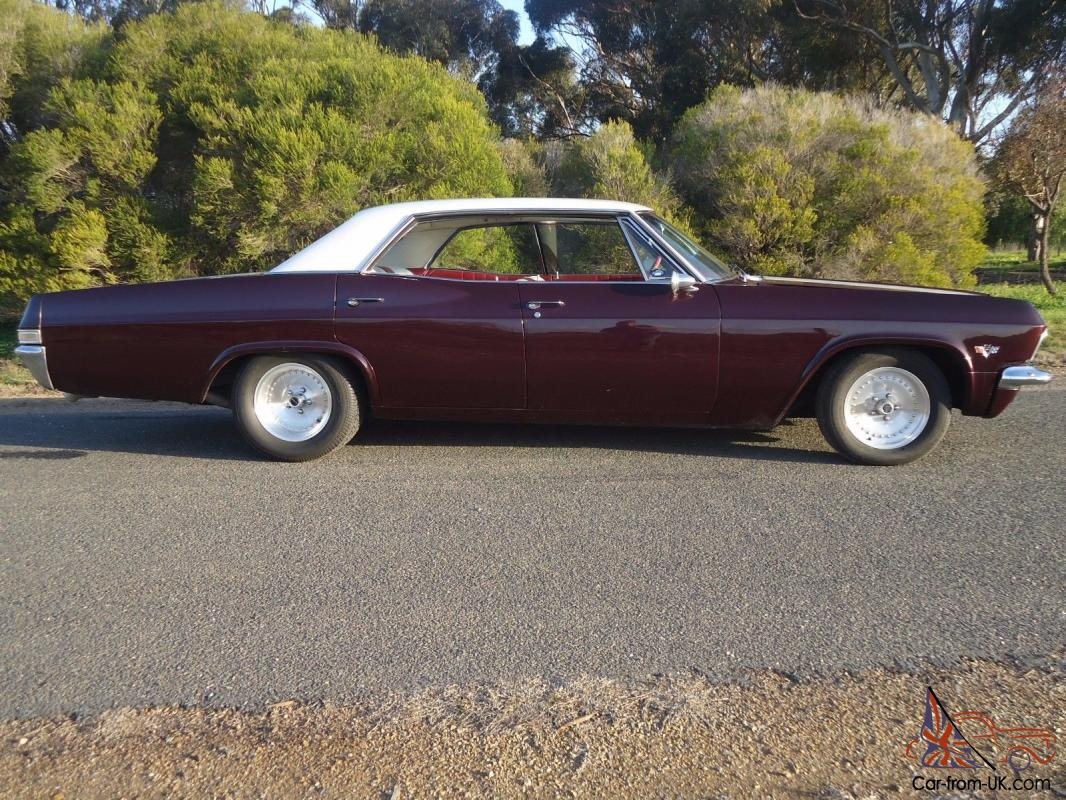 1965 chevrolet impala 4 door pilarless 454 big block centreline tough rego in sa