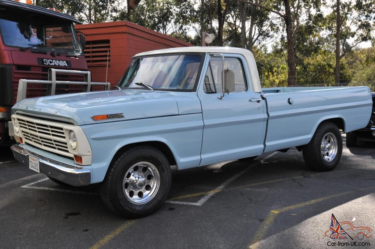 1968 Ford F 250 Pick Up Long Bed 390 V8 C 6 Trans Not A