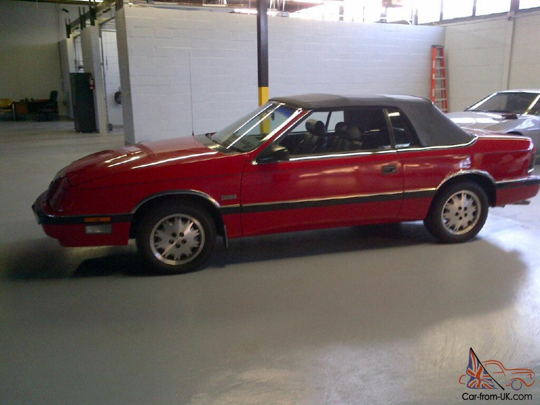 1987 chrysler lebaron for sale