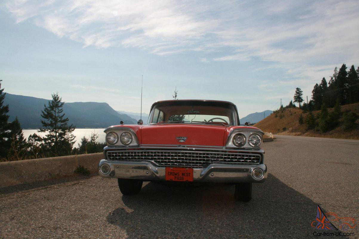 Ford Galaxie Pillarless Hardtop Sedan O Matic Automatic Transmission Power Steering Brakes And A
