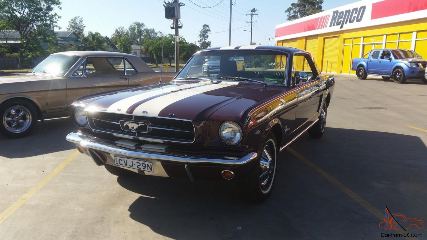 Ford mustang 1965 2d hardtop automatic 4 7l carb no reserve in nsw photo