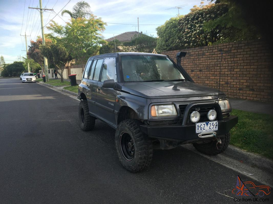 suzuki vitara automatic 4x4 4wd lifted new tyres rear air diff lock winch in vic. Black Bedroom Furniture Sets. Home Design Ideas