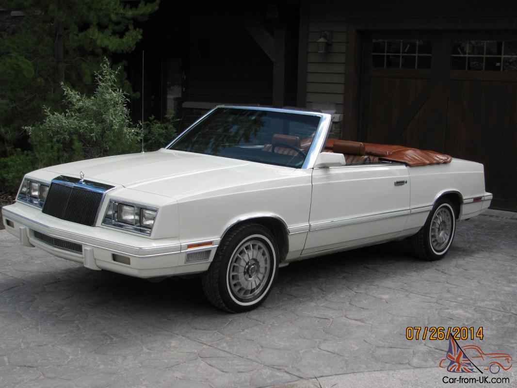 Chrysler Lebaron Convertible Medallion Edition Mark Cross Interior Photo
