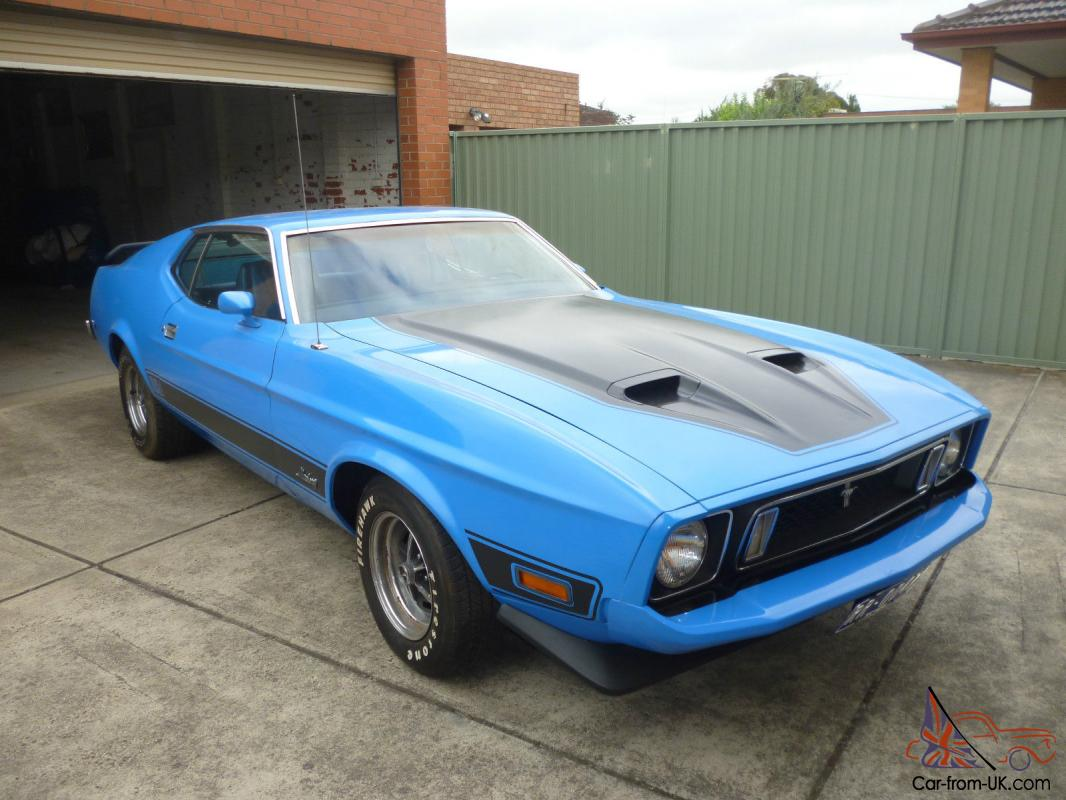 1973 ford mustang mach 1 blue left hand drive in vic
