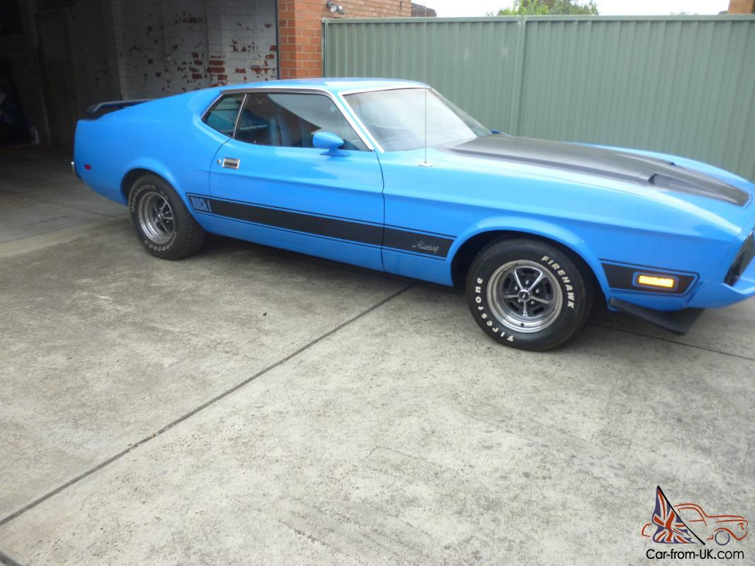 Price drop 1973 ford mustang mach 1 blue left hand drive in vic photo