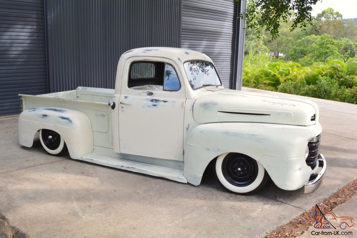 1949 ford f1 pickup patina rat rod project bagged not chevrolet camaro f100 in qld