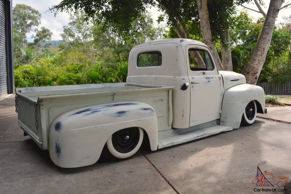 1949 Ford F1 Pickup Patina Rat Rod Project Bagged Not Chevrolet F 250 4x4 Camaro F100 In Qld