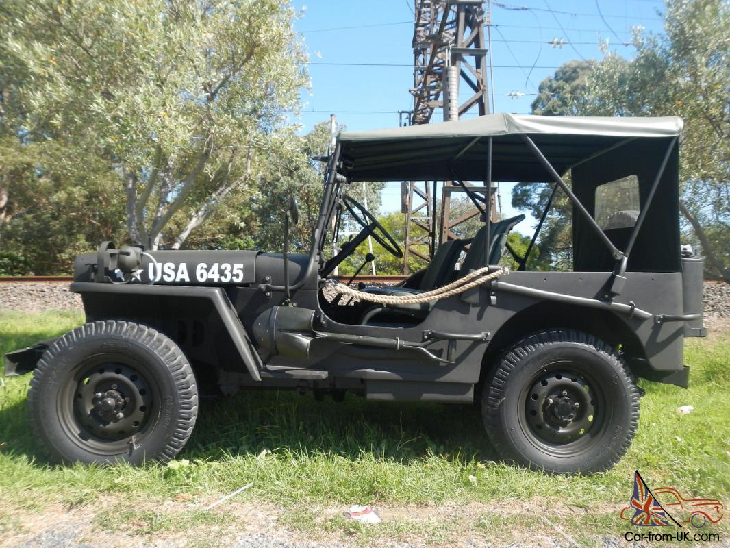 willys army jeep world war 11 fully restored in vic. Black Bedroom Furniture Sets. Home Design Ideas