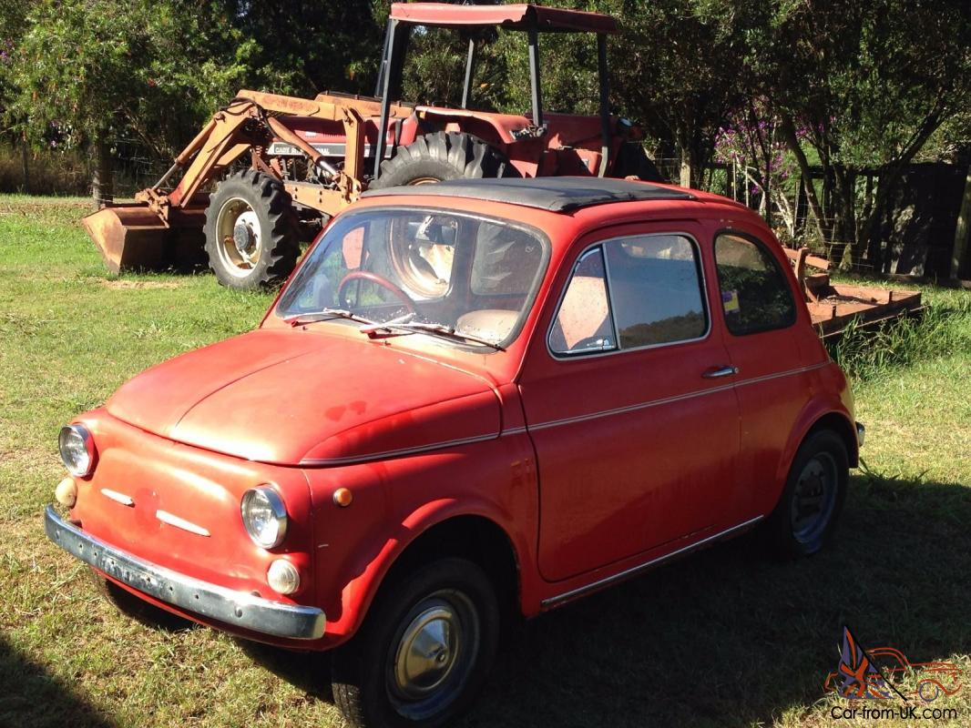fiat 500 f 1972 rare totally original car shedded for last. Black Bedroom Furniture Sets. Home Design Ideas