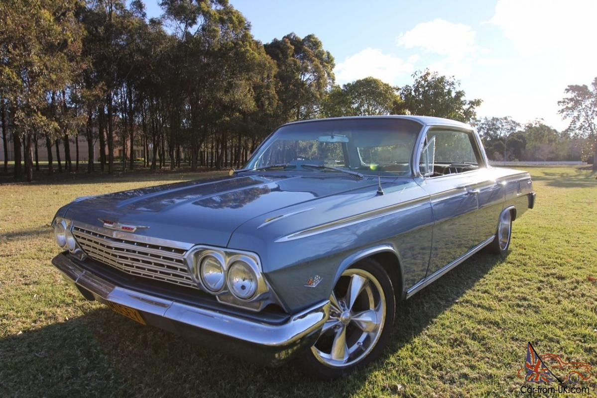 Chevrolet Impala 1962 4d Pillarless Hardtop Factory Rhd Cruiser W 1966 Chevy Air Conditioning 6mth Rego In Nsw