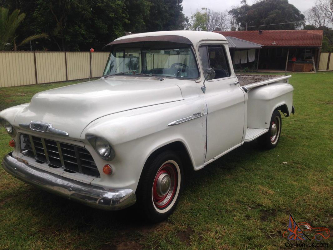 Chevy 1956 Pick Up Truck Hot Rod Project 350 4 Speed 56