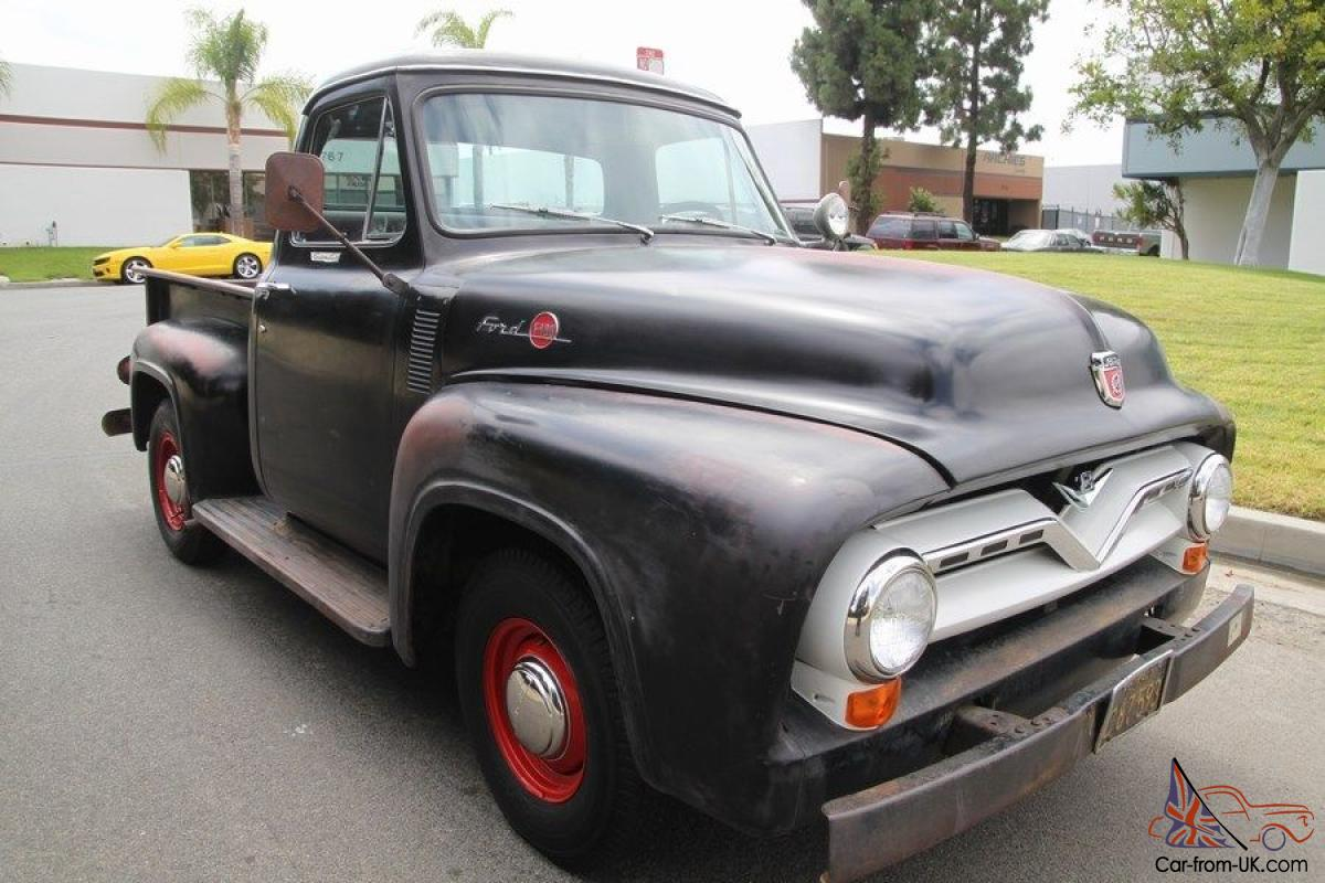 1955 Ford F100 Custom Cab Factory Black V8 O D Theyre Only Original Side Mirrors Once In Vic