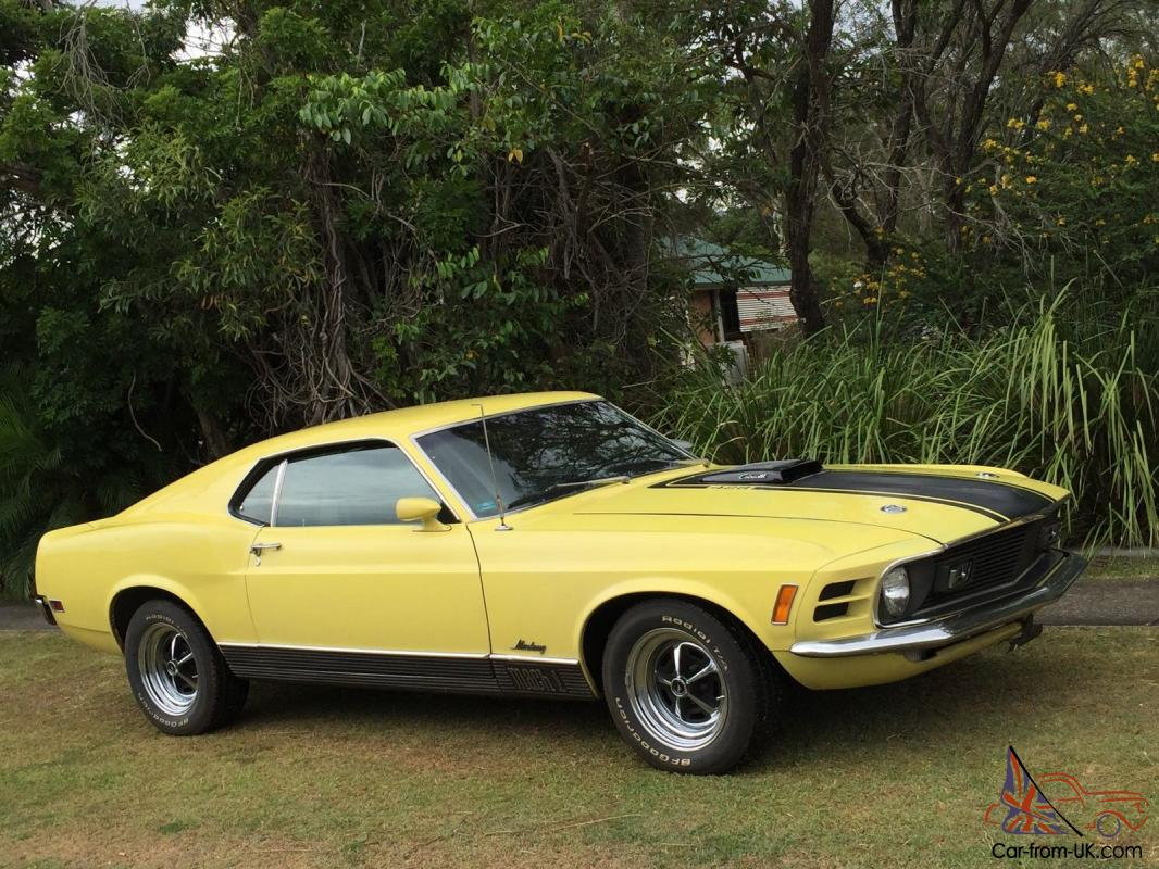 1970 ford mustang mach 1 428 r code cobra jet in qld. Black Bedroom Furniture Sets. Home Design Ideas