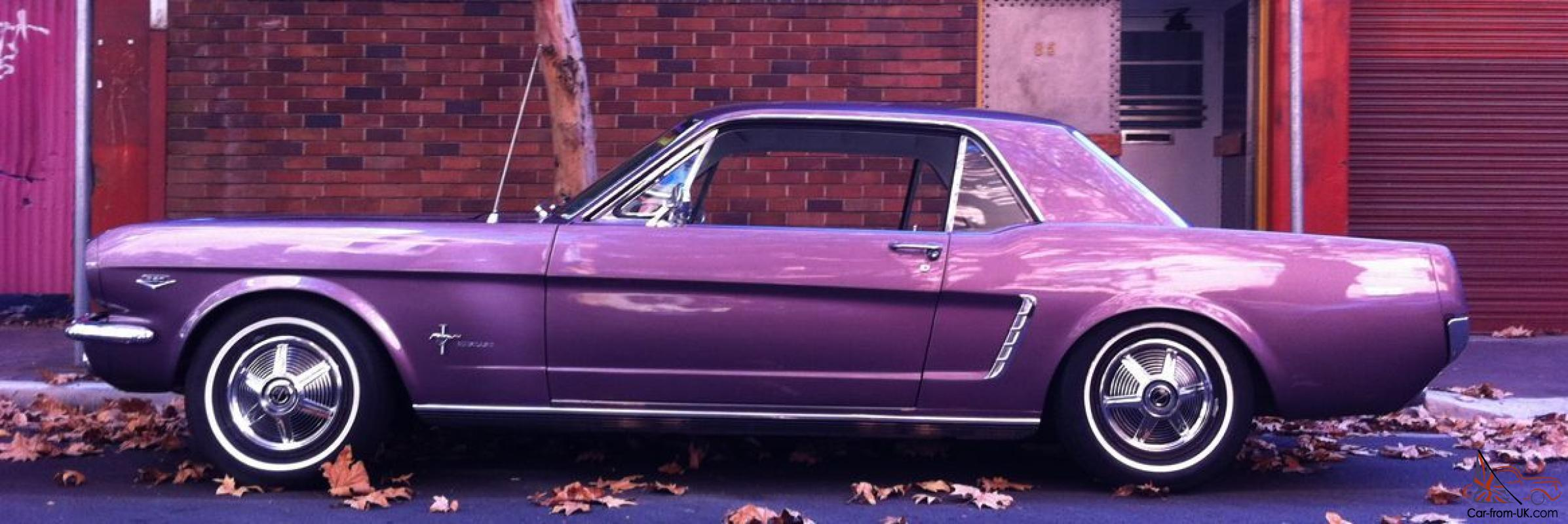1964 1 2 ford mustang springtime violet coupe in nsw. Black Bedroom Furniture Sets. Home Design Ideas