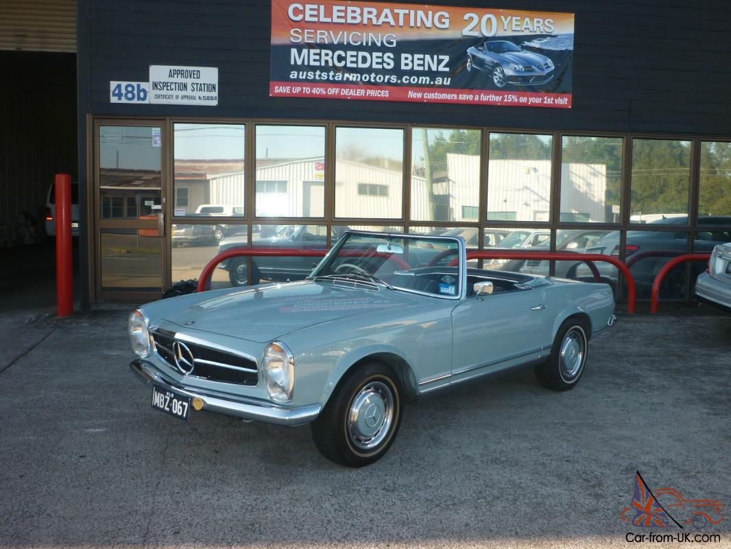 Mercedes benz 250 sl australian delivered full service for Mercedes benz fixed price servicing costs