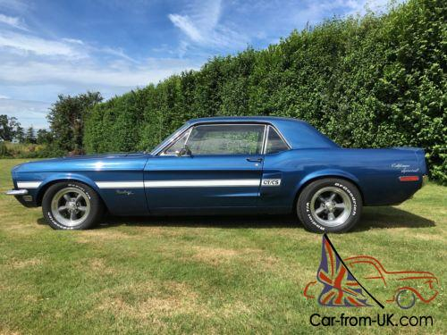 1968 Mustang GT/CS 4 Speed Manual Muscle Car Shelby Hotrod Camaro Fastback