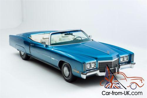 1972 cadillac eldorado new blue paint white interior for 1972 cadillac eldorado interior