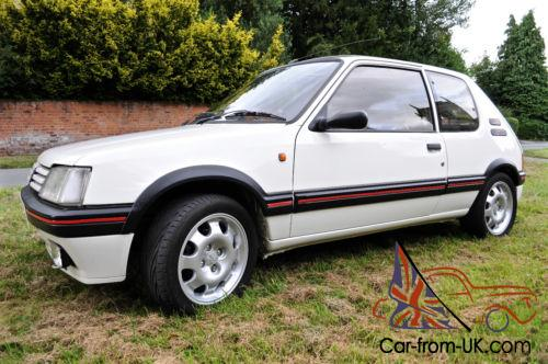 1987 peugeot 205 1 9 gti white. Black Bedroom Furniture Sets. Home Design Ideas