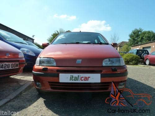 1998 fiat punto gt 1 4 turbo arancia orla orange 71k miles great condition. Black Bedroom Furniture Sets. Home Design Ideas