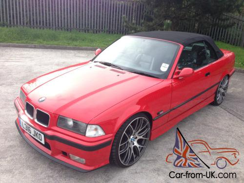 1994 Bmw 325i 3 Series Cabriolet Convertible E36 Manual Red