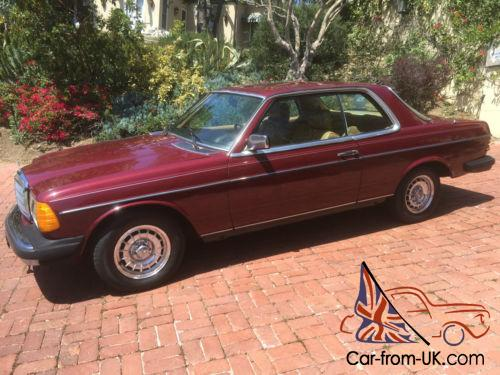 1982 Mercedes Benz 300 Series Cd Coupe W123 300cd Turbo