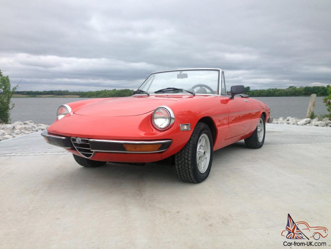 1971 alfa romeo spider veloce convertible rare fuel inject cam tail wow. Black Bedroom Furniture Sets. Home Design Ideas