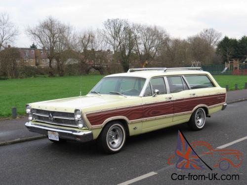 1966 ford fairlane squire station wagon woody unmolested surf wagon v8 auto pas. Black Bedroom Furniture Sets. Home Design Ideas