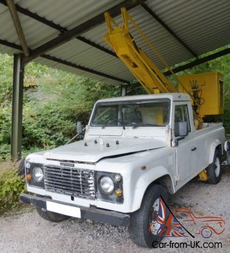 LAND ROVER DEFENDER 110 200 TDi FITTED MEWP SIMONS LF7