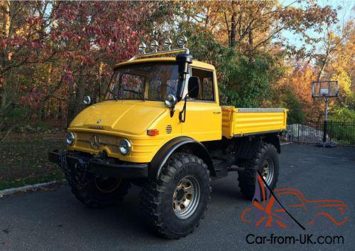 1972 mercedes benz unimog 406 5 7 diesel 4wd w dump bed. Black Bedroom Furniture Sets. Home Design Ideas