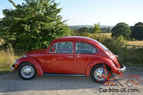 vw beetle restored 1300 1970 iberian red works perfectly. Black Bedroom Furniture Sets. Home Design Ideas