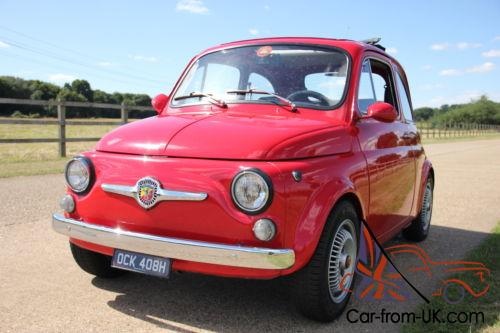 1969 classic fiat 500 595 abarth tribute 5 speed disc brakes upgraded engine. Black Bedroom Furniture Sets. Home Design Ideas
