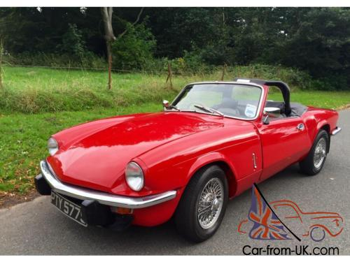 Triumph Spitfire 1500 With Overdrive Wire Wheels6 Months Warranty