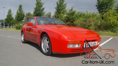 RED PORSCHE 944 S2 WITH CREAM LEATHER INTERIOR MOTu0027D UNTIL MARCH 17 Photo