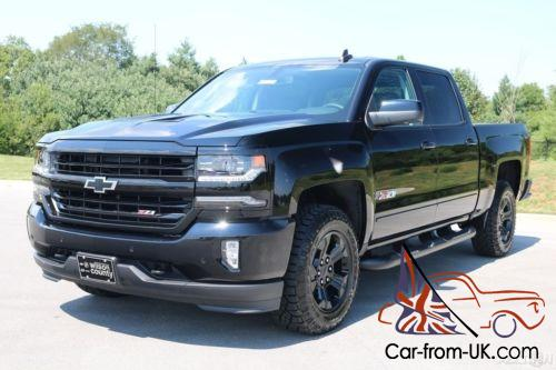 2017 chevrolet silverado 1500 crew cab ltz z71 6 2l v8 4x4 midnight edition bose. Black Bedroom Furniture Sets. Home Design Ideas