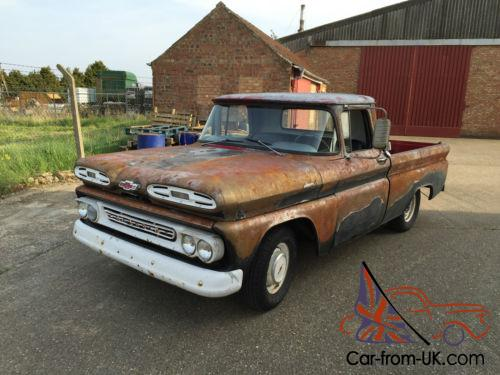 1961 CHEVY APACHE - PICK UP TRUCK - RAT - PROJECT - Like ...